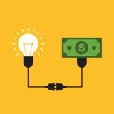 A ideia criativa faz a conceito do dinheiro o projeto liso Fotografia de Stock Royalty Free