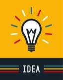 Ideia criativa na forma da ampola, ícone da lâmpada, ideia Imagem de Stock