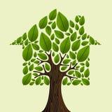 Ideia da árvore dos bens imobiliários Fotografia de Stock Royalty Free