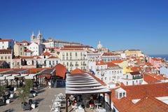 A ideia da arquitetura de Lisboa de Largo Portas faz o solenoide Imagens de Stock Royalty Free