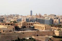 Ideia da capital de Malta do mar, da história e da modernidade foto de stock
