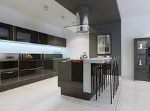 Ideia da cozinha minimalista Fotografia de Stock Royalty Free