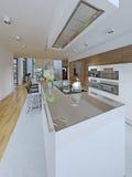 Ideia da cozinha vanguardista Foto de Stock Royalty Free