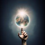 Ideia da criação da terra imagem de stock