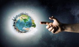 Ideia da criação da terra fotos de stock