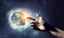 Ideia da criação da terra Meios mistos imagem de stock royalty free