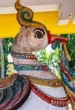 Ideia da escultura antiga do pavão, Chennai, Tamilnadu, o 29 de janeiro de 2017 Foto de Stock