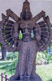 Ideia da escultura indiana antiga das mulheres, Chennai, Tamilnadu, Índia 29 de janeiro de 2017 Imagens de Stock Royalty Free
