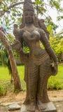Ideia da escultura indiana antiga das mulheres, Chennai, Tamilnadu, Índia 29 de janeiro de 2017 Foto de Stock Royalty Free