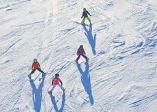 Ideia da estância de esqui Áustria Fotografia de Stock