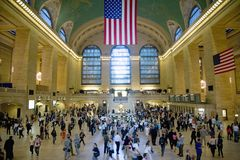 Ideia da estação central grande Fotografia de Stock Royalty Free