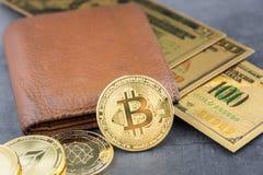 Ideia da imagem virtual do conceito do cryptocurrency imagem de stock royalty free