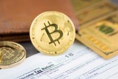 Ideia da imagem virtual do conceito do cryptocurrency fotos de stock