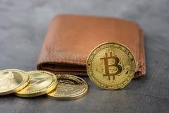 Ideia da imagem virtual do conceito do cryptocurrency fotografia de stock