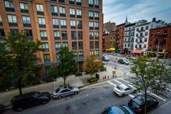 Ideia da interseção da 9a avenida e da 2a rua em Chelse Imagens de Stock Royalty Free
