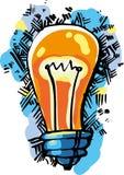 Ideia da lâmpada Fotos de Stock