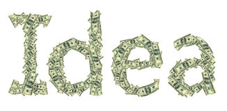 Ideia da legenda feita dos dólares como um símbolo do começo bem sucedido Foto de Stock Royalty Free