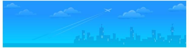 A ideia da linha de Citysky ilustração royalty free