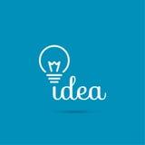Ideia da luz de bulbo Fotos de Stock Royalty Free