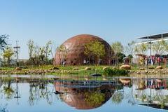 Ideia da manh? da ?rea do parque de Waipu do mundo Flora Exposition de Taichung foto de stock royalty free