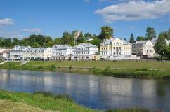 Ideia da margem da cidade de Torzhok Fotografia de Stock Royalty Free