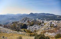 Ideia da natureza de Montenegro da montanha de Lovcen Parque nacional de Lovcen verão fotografia de stock royalty free