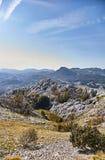 Ideia da natureza de Montenegro da montanha de Lovcen Parque nacional de Lovcen verão imagem de stock