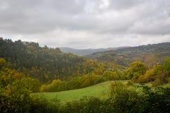 Ideia da natureza do outono de Úmbria em Itália Fotos de Stock