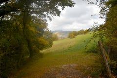 Ideia da natureza do outono de Úmbria em Itália Imagens de Stock