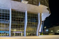 Ideia da noite do 1 centro dourado famoso Foto de Stock