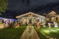 Ideia da noite do Natal bonito nos doces Cane Lane Imagem de Stock