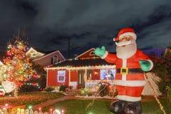 Ideia da noite do Natal bonito nos doces Cane Lane Imagens de Stock Royalty Free