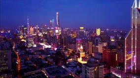 Ideia da noite do vídeo do ¼ Œ4k de Shanghai Chinaï vídeos de arquivo