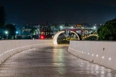 Ideia da noite dos towrads do caminho o mundo Flora Exposition de Taichung fotos de stock royalty free