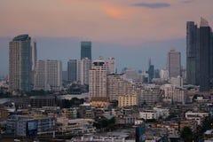 A ideia da paisagem da cidade em Banguecoque Tailândia fotografia de stock