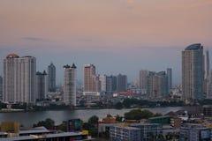 A ideia da paisagem da cidade em Banguecoque Tailândia imagem de stock royalty free