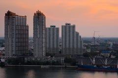 A ideia da paisagem da cidade em Banguecoque Tailândia fotos de stock royalty free