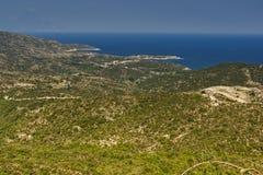 Ideia da paisagem de Sithonia, Chalkidiki, Sithonia, Macedônia central Imagem de Stock Royalty Free