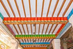Ideia da pintura da parte superior do telhado do templo, Kumbakonam, Índia 15 de dezembro de 2016 Foto de Stock