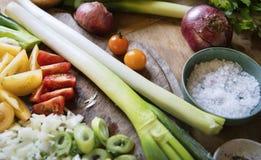 Ideia da receita da fotografia do alimento dos legumes misturados foto de stock royalty free