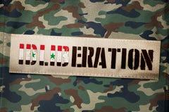 ideia da rendição 3D para Síria e Rússia que juram limpar para fora terroristas em Idlib ilustração stock