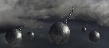 ideia da rendição 3D para um furacão catastrófico que faz a terra firme imagens de stock