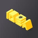 ideia da rotulação 3D Fotos de Stock Royalty Free