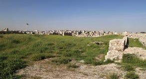 Ideia da skyline de Amman, Jordânia Imagens de Stock
