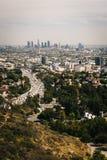 A ideia da skyline de Los Angeles do Hollywood Bowl negligencia Foto de Stock