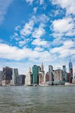 Ideia da skyline de Manhattan de Brooklyn Fotos de Stock