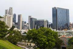 Ideia da skyline de Singapura do monte Fotografia de Stock