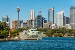 Ideia da skyline de Sydney City CBD - Austrália Imagem de Stock Royalty Free