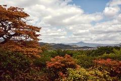Ideia da vista da montanha em Kyoto, Japão fotografia de stock