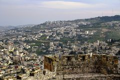 Ideia das áreas residenciais do Jerusalém imagem de stock royalty free